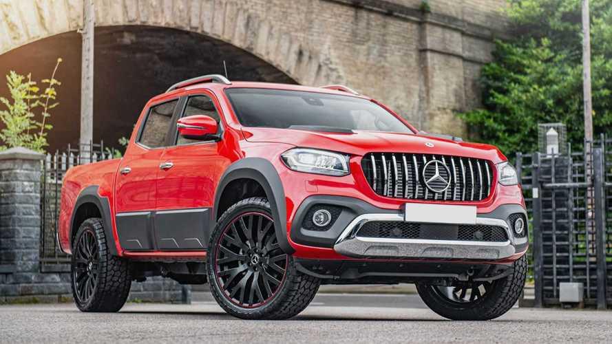 """""""Catwalk Chic"""" am Pickup-Truck: Tuner baut sehr rote Mercedes X-Klasse"""