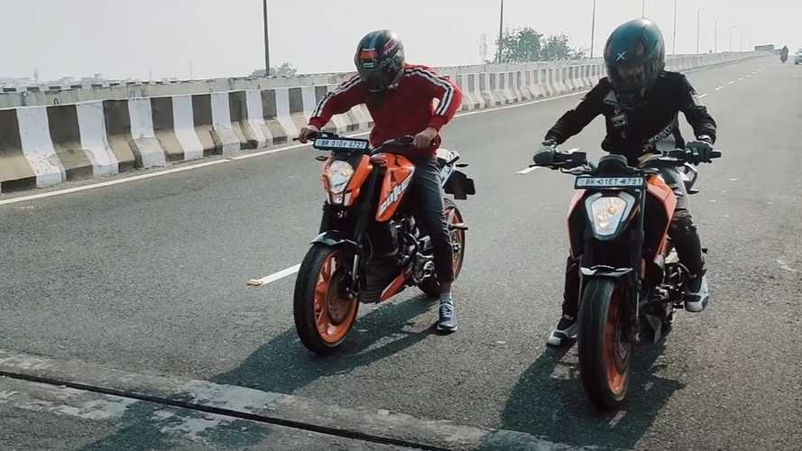 Check Out This Drag Race Between The New And Old KTM 200 Duke