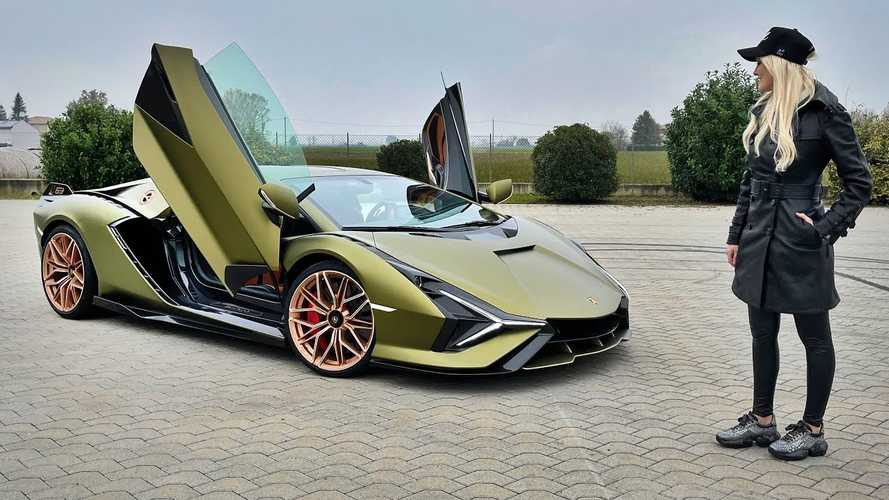 Supercar Blondie Fires Up The Lamborghini Sian FKP 37