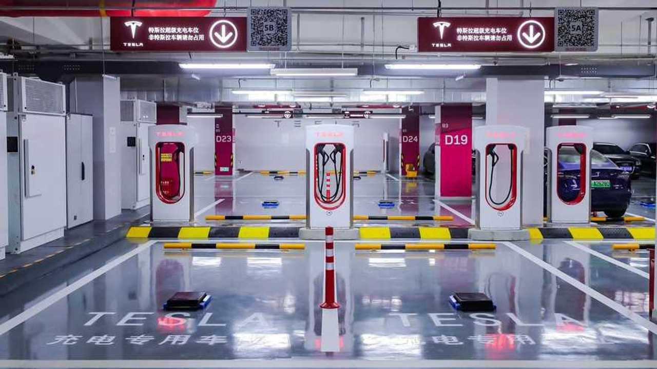 Tesla Supercharging station in China