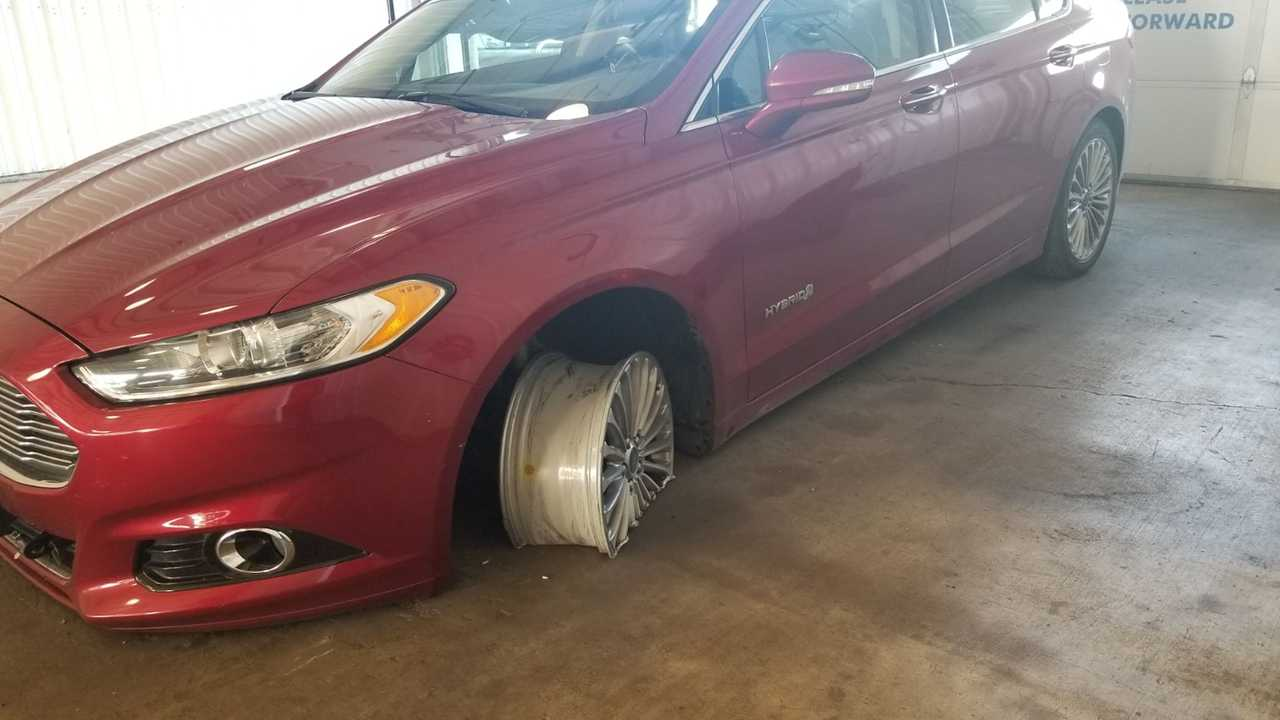Ford Fusion Hybrid Towing Damage