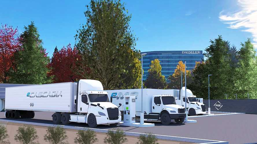 Daimler Builds First Public Megawatt-Level EV Truck Charging Site