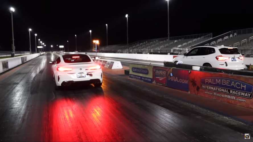 BMW M8 Competition Vs X3 M Drag Race