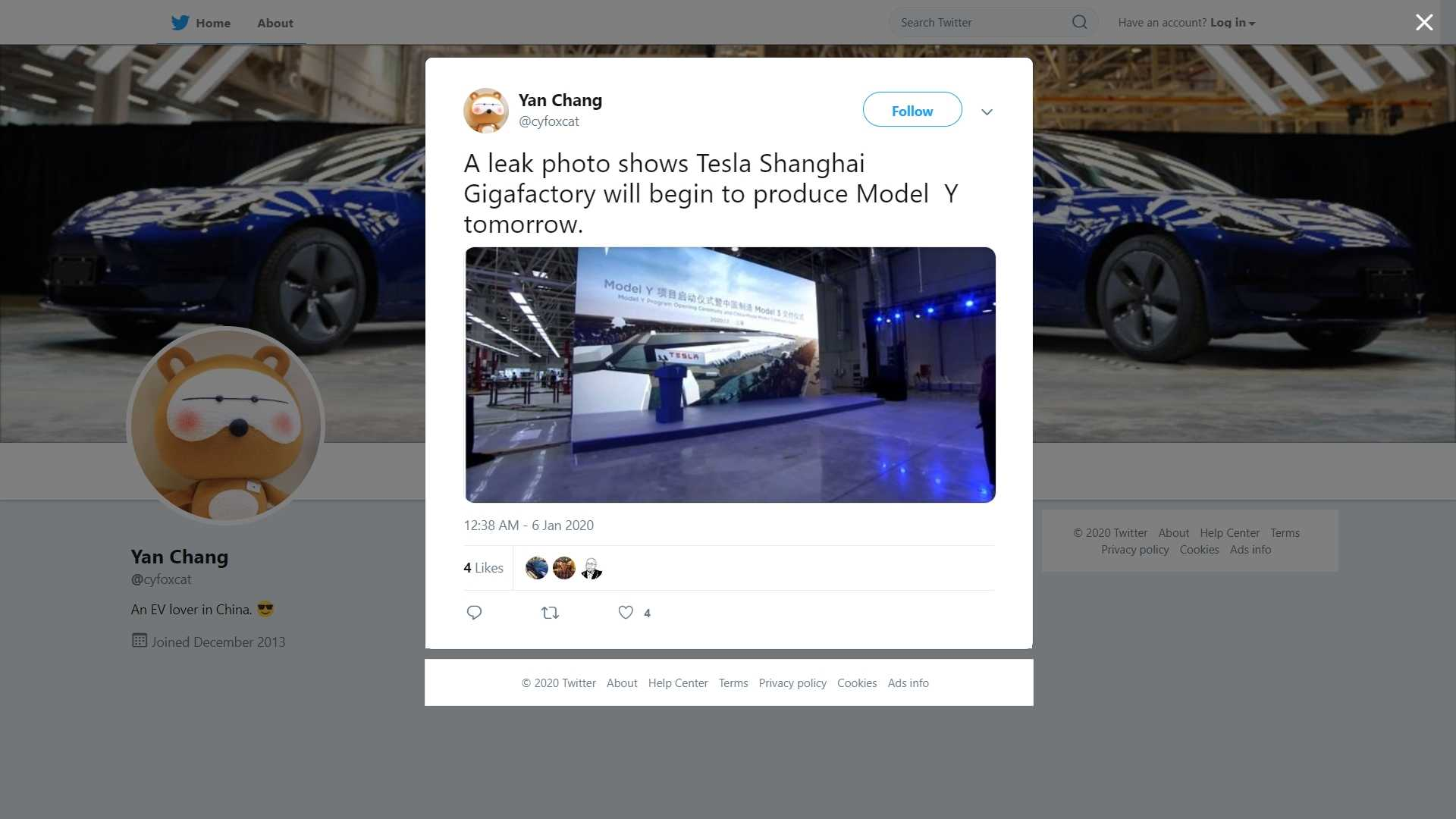 Tesla Model Y Production May Begin In China On January 7