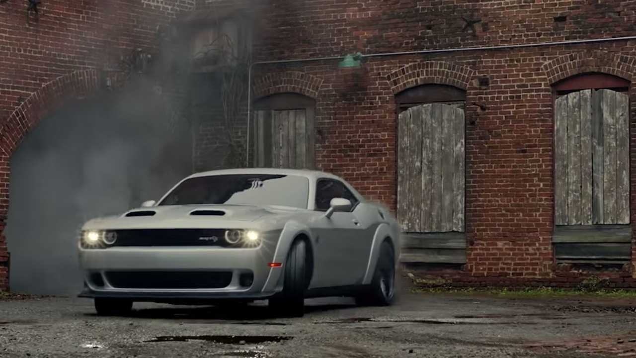 Dodge Challenger SRT Hellcat Throwback Ad From Super Bowl 2018