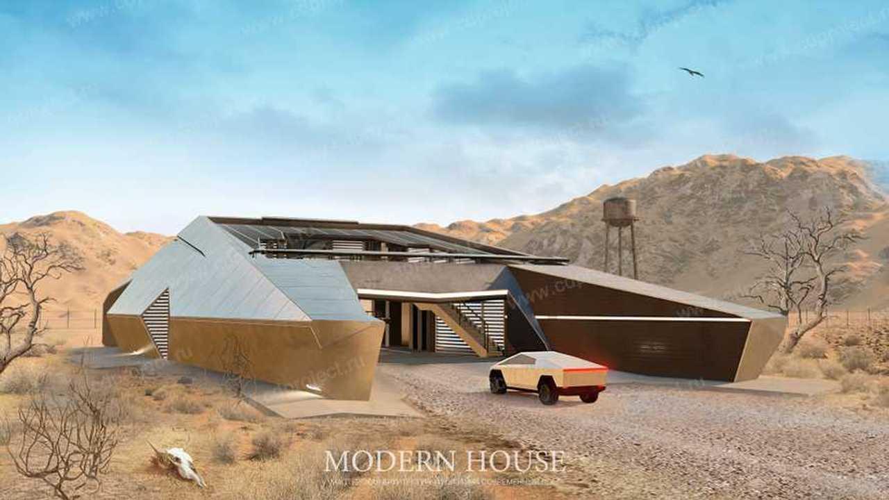 La casa ispirata al Tesla Cybertruck