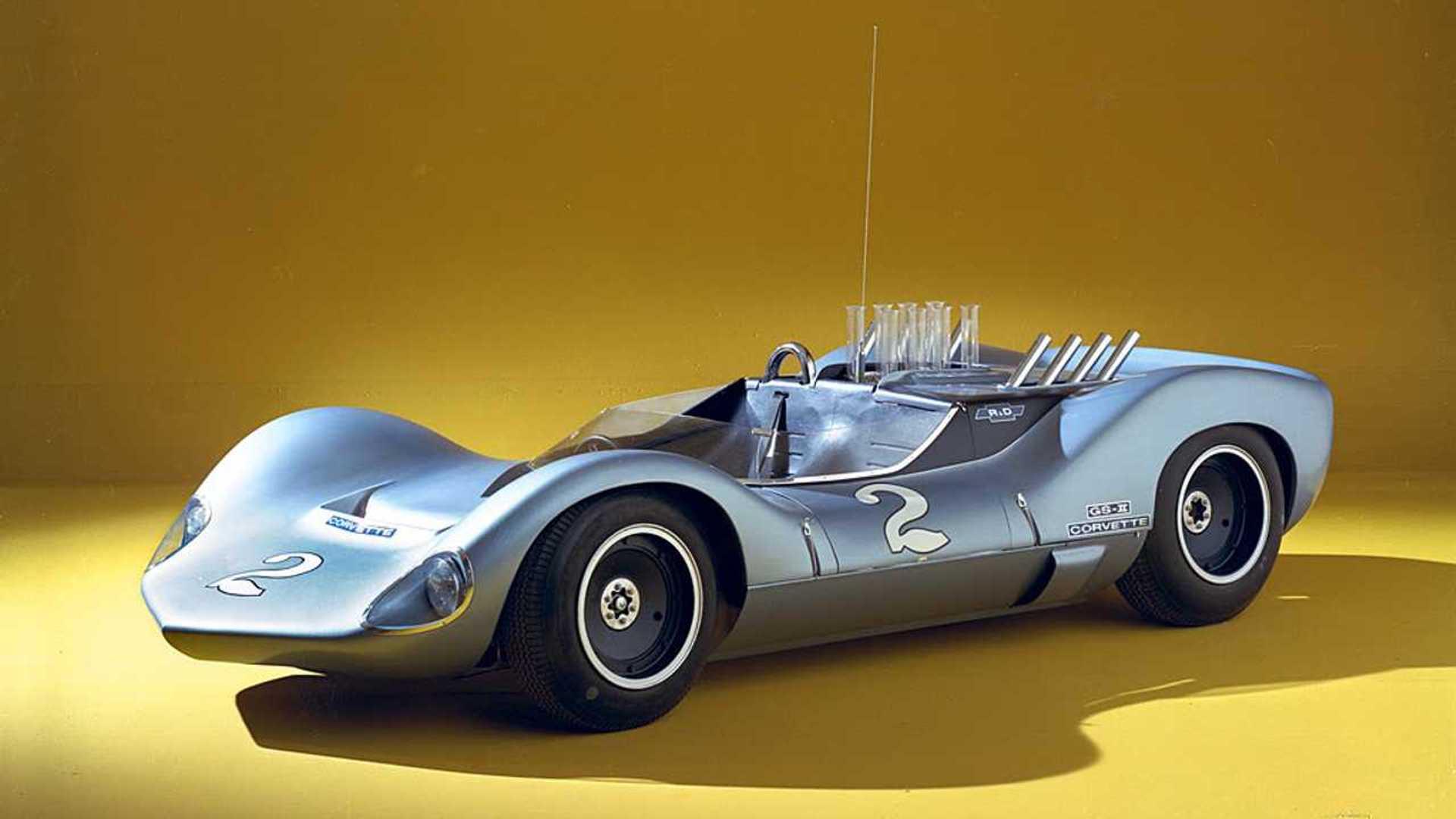 "[""1964 Chevy GS IIB Joins Mid-Engine 'Vette Display At Amelia Island""]"