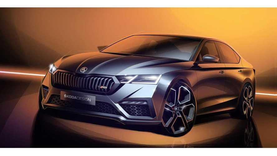 Škoda Teases Octavia vRS iV Ahead Geneva Motor Show