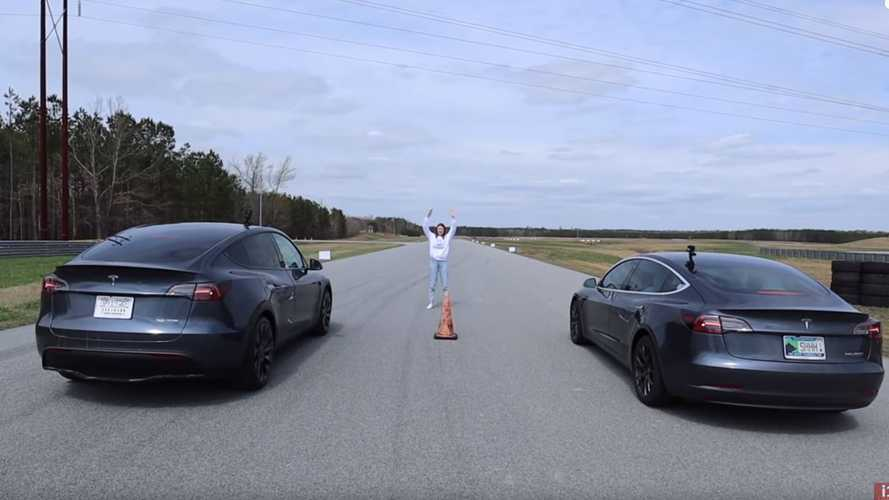 Watch Tesla Model Y Performance Race Model 3, Model X: 1/4-Mile Drag