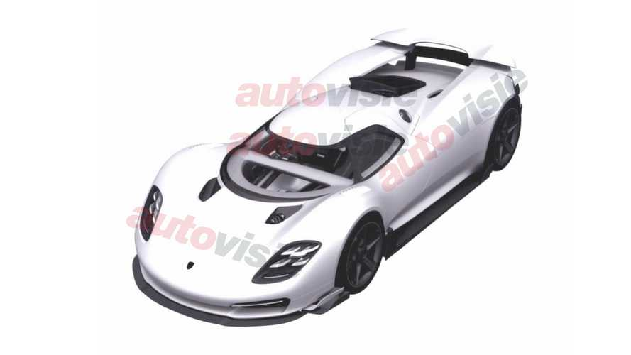 Porsche 918 Spyder successor shown in submitted patent images?