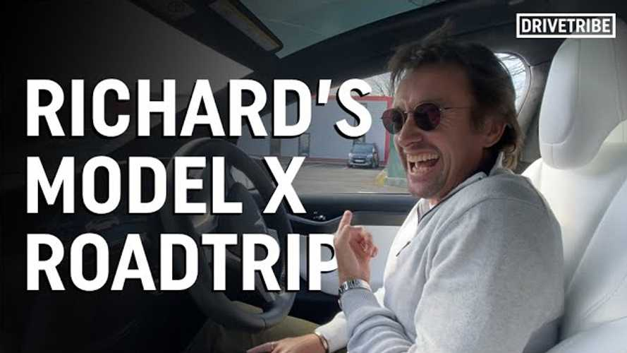 Watch Richard Hammond's Tesla Model X road trip video