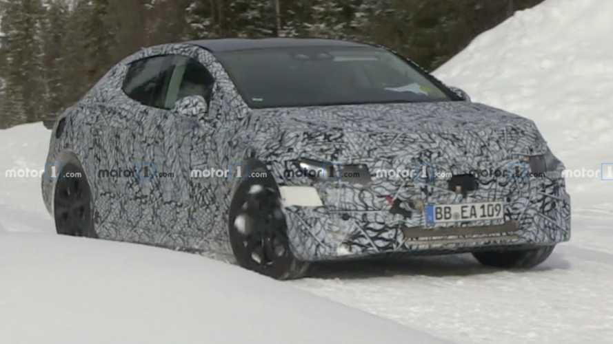 Mercedes EQE Spied In Motion Testing In The Snow