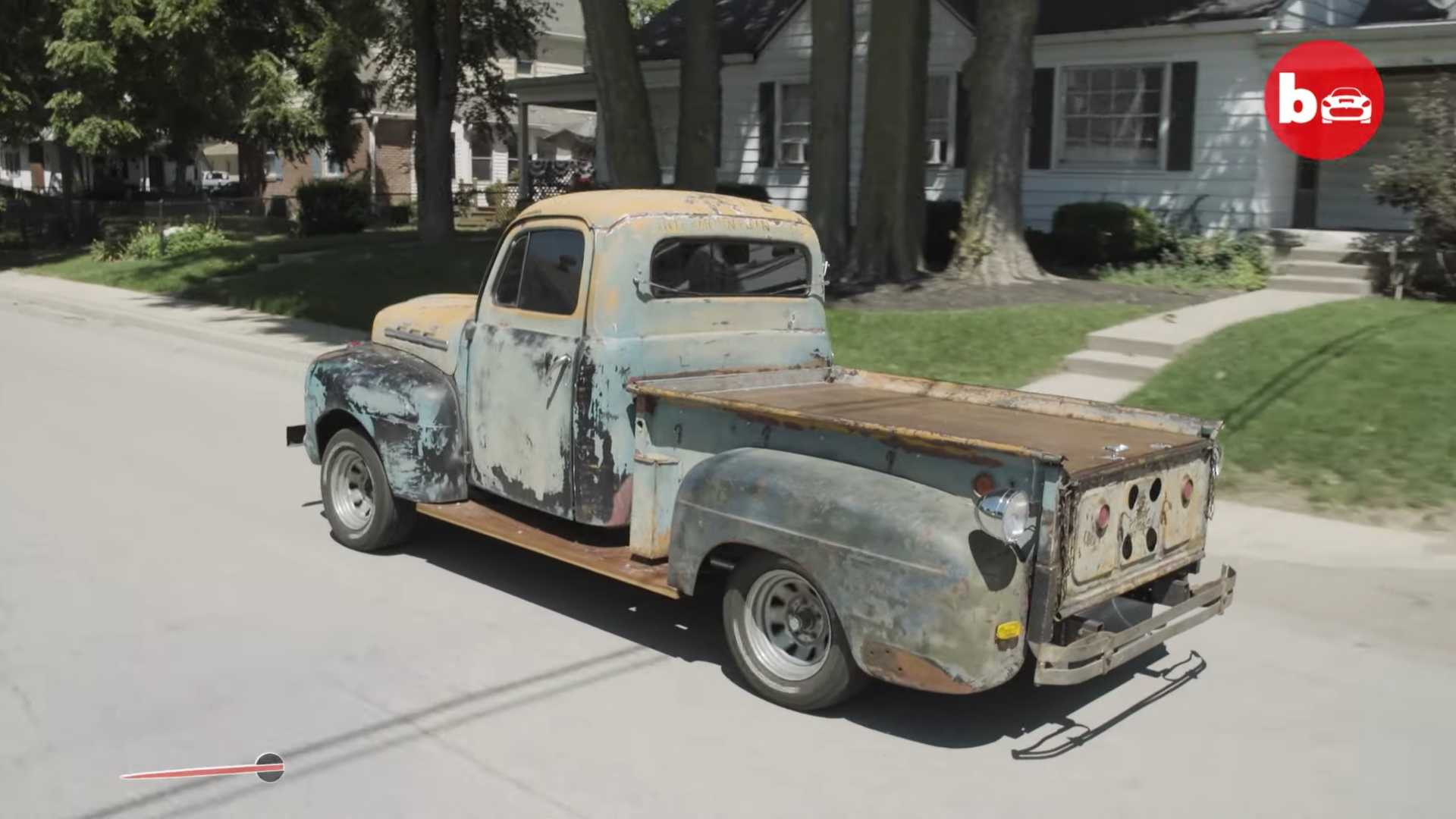 1952 Ford Truck Literally Drives Backwards Into The Future