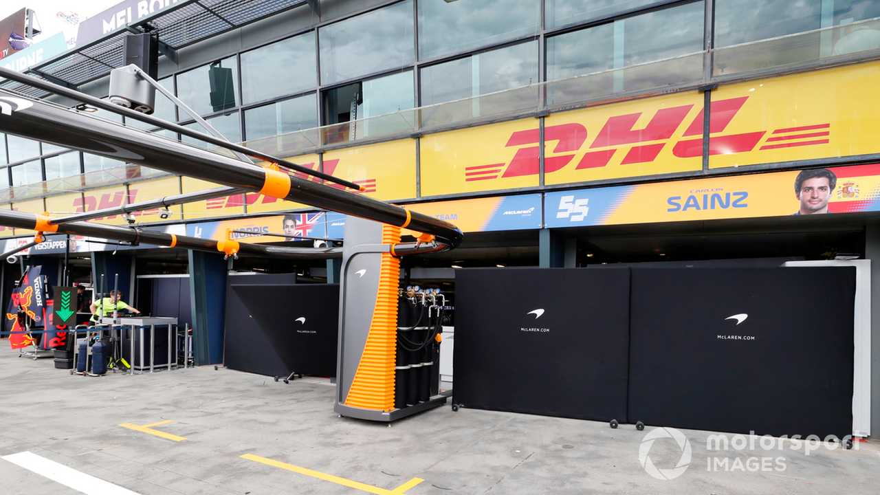 McLaren pits at Australian GP 2020