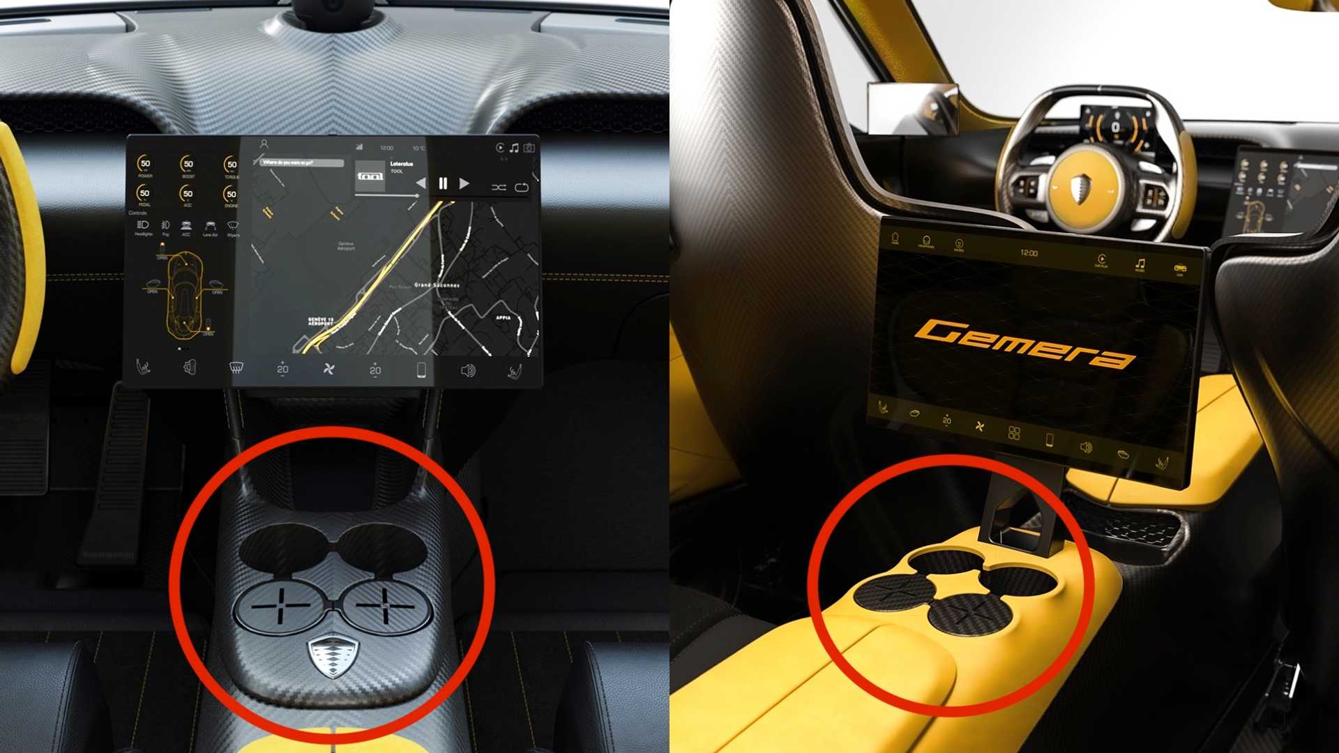 The Koenigsegg Gemera has more cupholders than a Nissan ...