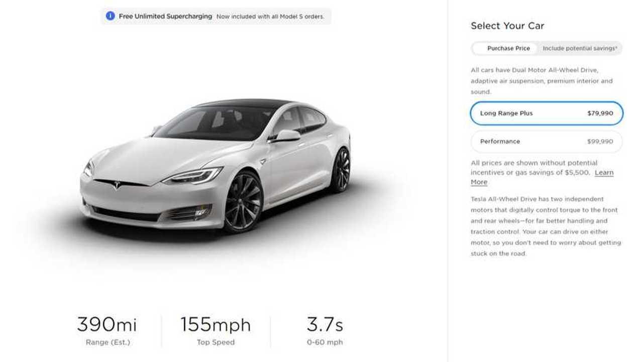 Tesla Model S - 390 miles EPA