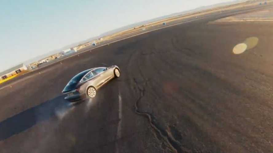 Tesla Model 3 With Track Mode Beats A Ferrari 458 Italia
