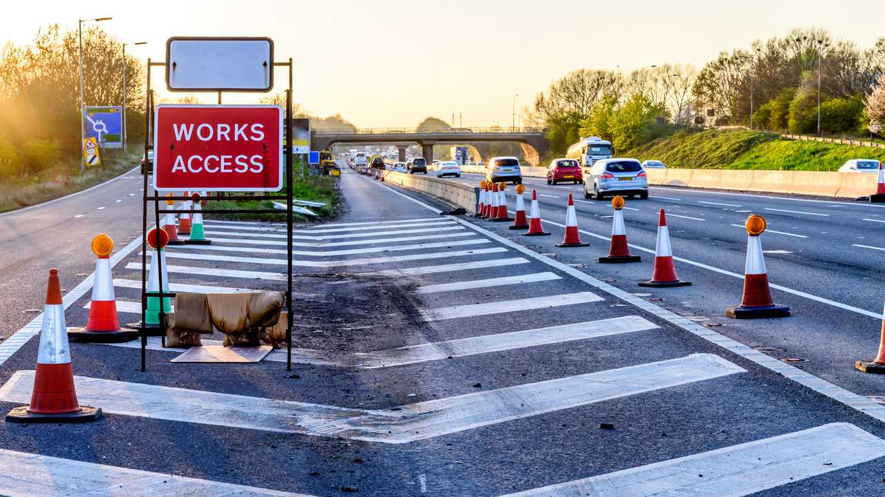 Works Access Only sign on UK motorway