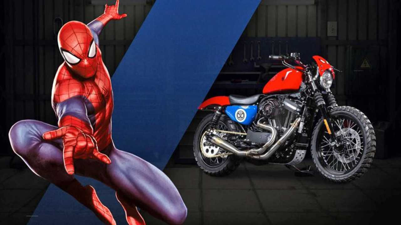 "Spiderman - Harley-Davidson Iron 883 ""Agility"""