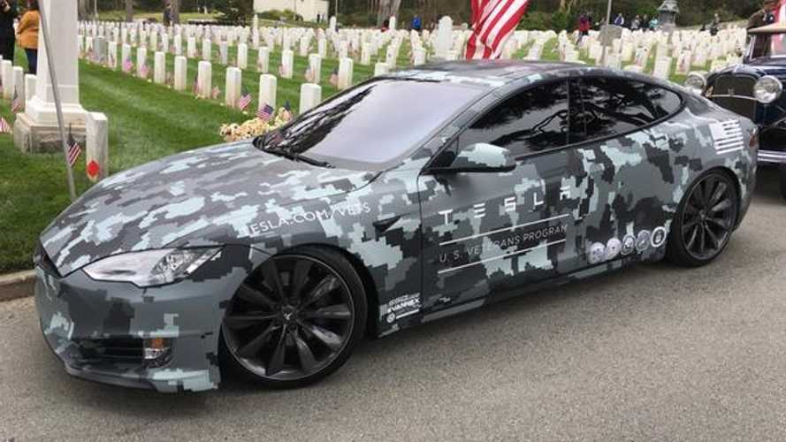 Specials Ops Tesla Model S Revealed For Veteran's Day