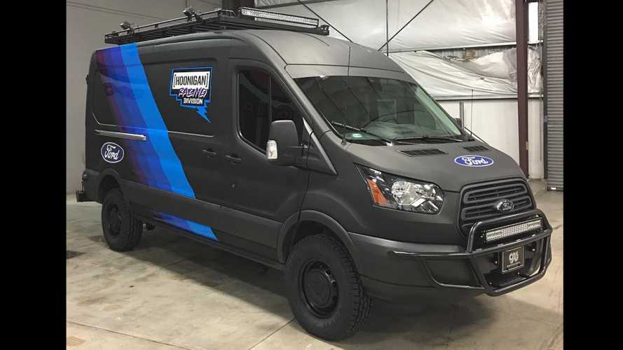 Hoonigan Racing custom Ford Transit vans