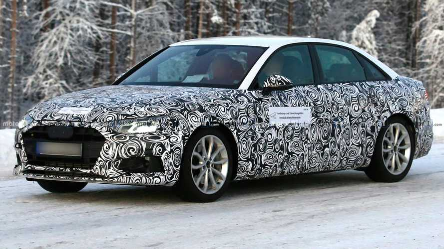 Facelifted Audi A4 saloon spied for first time