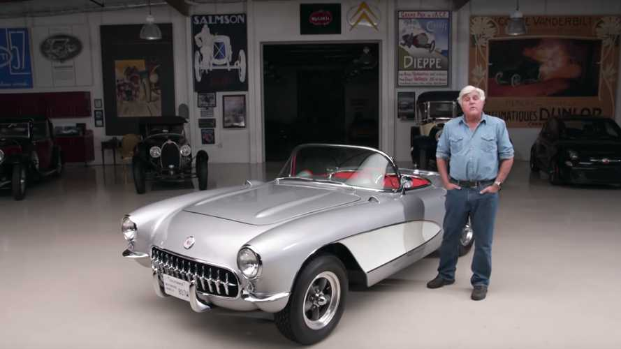 Jay Leno drives his perfect 1957 Chevrolet Corvette C1