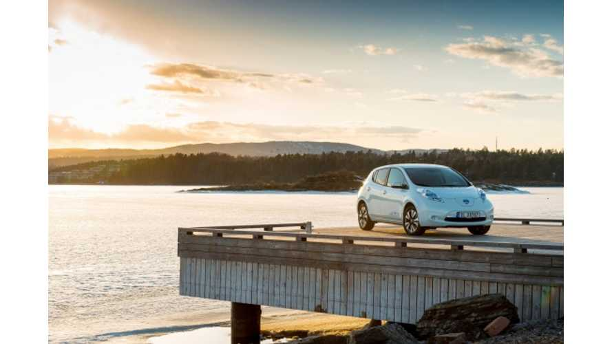 In November, EV Sales in Norway Exceed 10% For First Time Ever; Tesla Model S, LEAF and VW e-Up! Shine