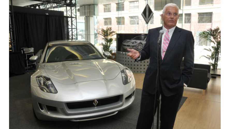 Bob Lutz/VL Automotive Fronts New Bid By Wanxiang To Buy Fisker (Update: For $20 Million)