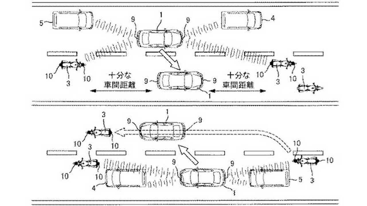 Suzuki Motorcycle Radar Patent