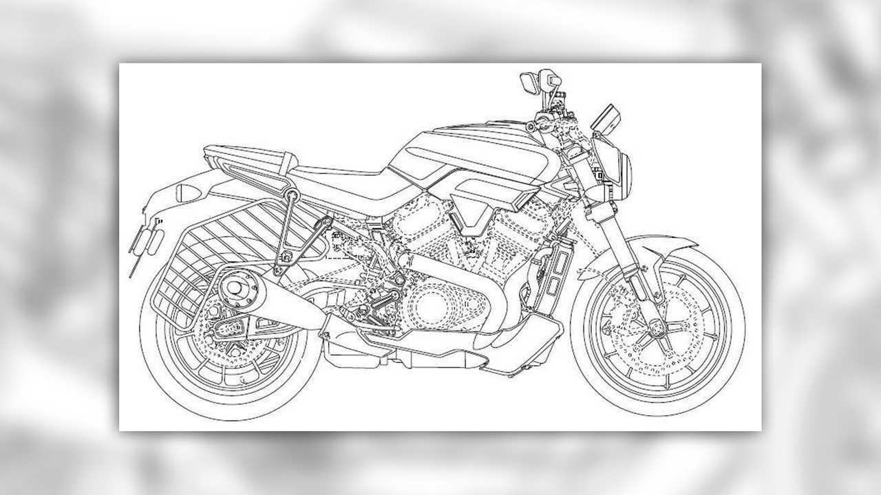 Harley-Davidson Streetfighter Design Filing