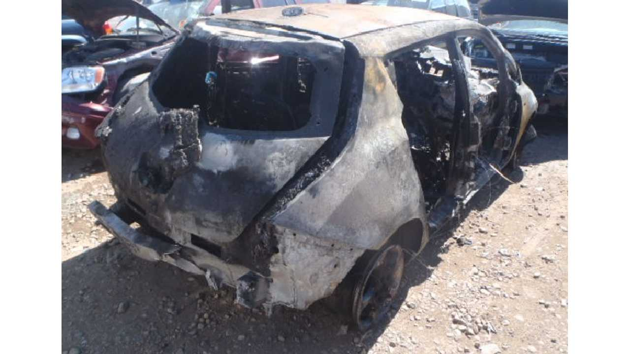A Seriously Burned Out Nissan LEAF