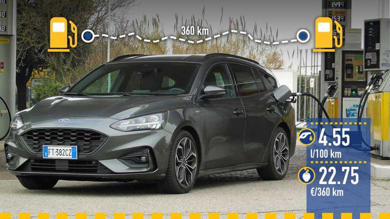 Ford Focus 2.0 diesel Wagon, la prova consumi
