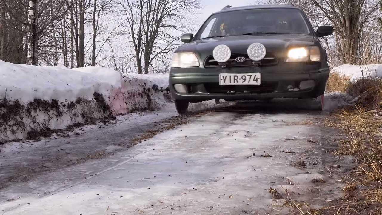 Subaru Legacy On Sawblades