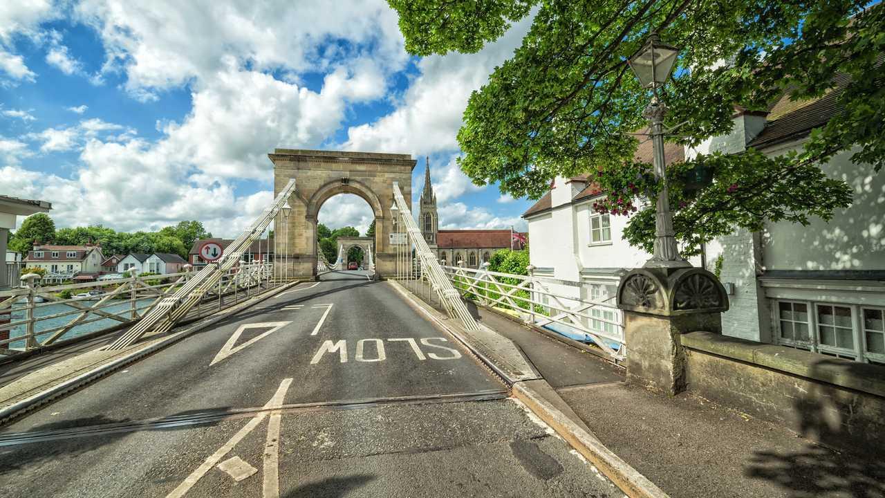 Iron Marlow bridge UK