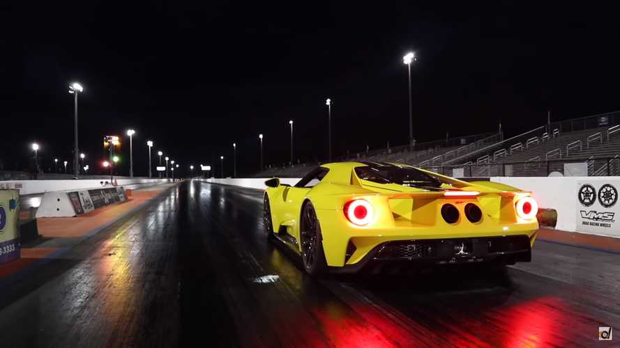Ford GT Vs. Lamborghini Aventador Drag Strip
