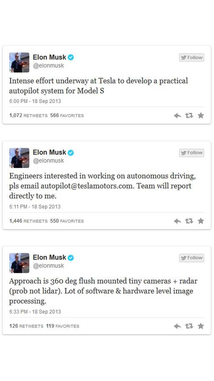 Elon Musk Takes to Twitter to Recruit Autopilot Engineers