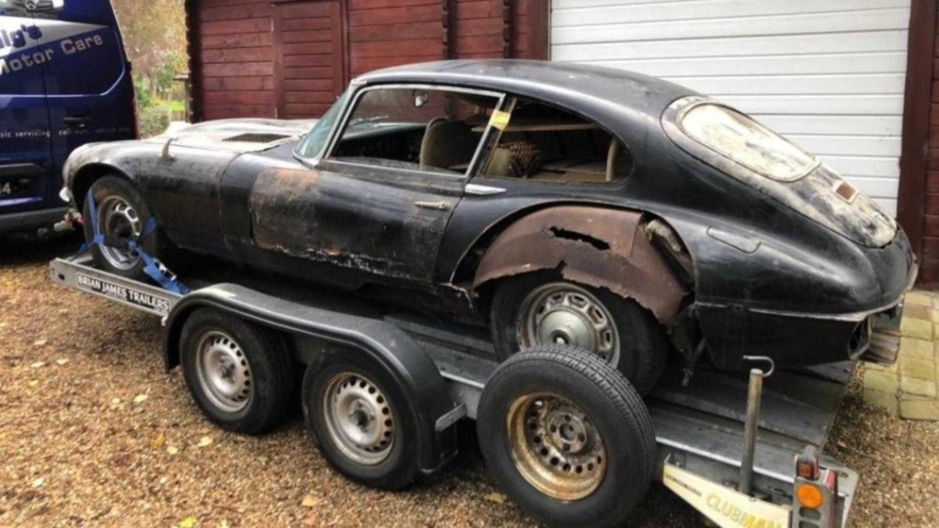 "[""Why this 1973 Jaguar E-type V12 barn find is for the brave""]"