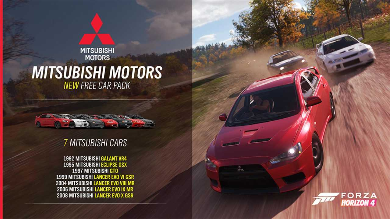mitsubishi debuts in forza horizon 4 39 s latest update. Black Bedroom Furniture Sets. Home Design Ideas