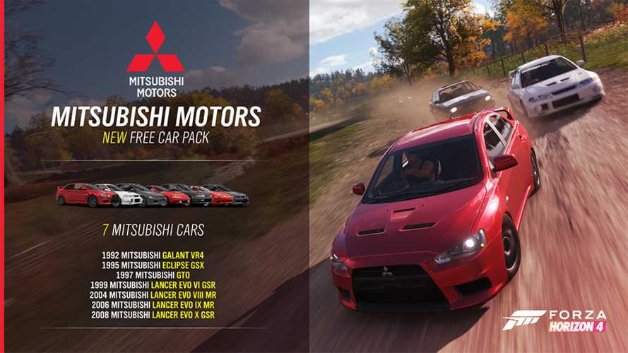 Drive 7 Mitsubishi's for free in Forza Horizon 4's latest update