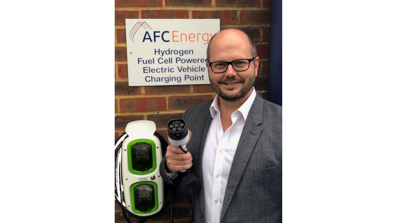 AFC Energy hydrogen fuel-cell charging system with Adam Bond