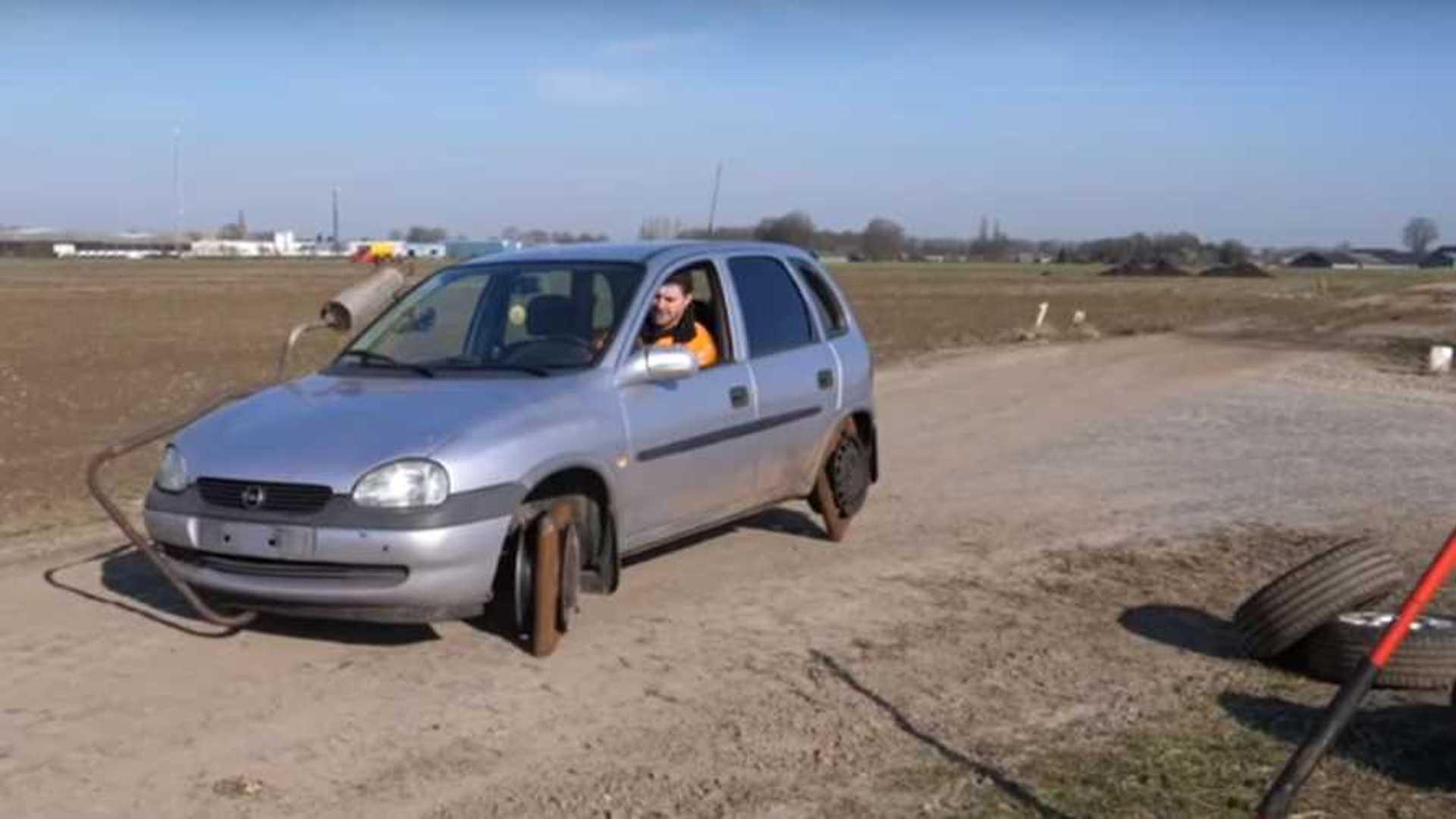Square Wheels Guarantee Bumpy Ride Regardless Of Car