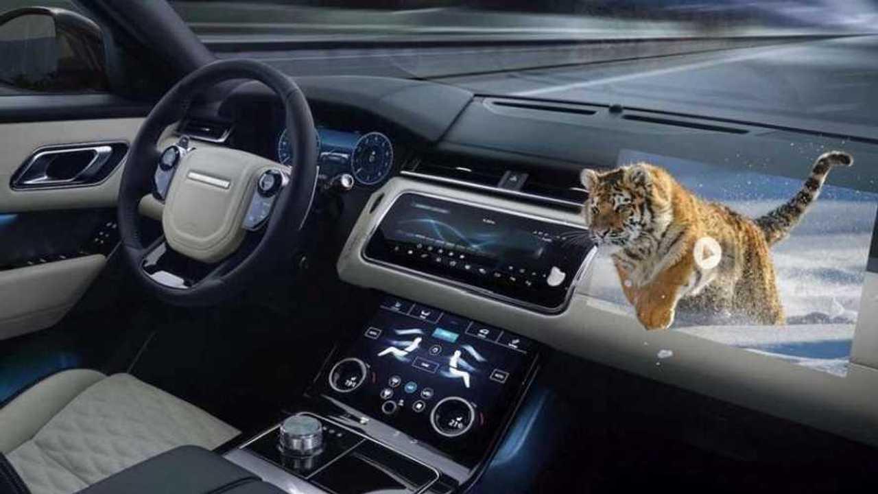 Jaguar-Land Rover 3D head up display