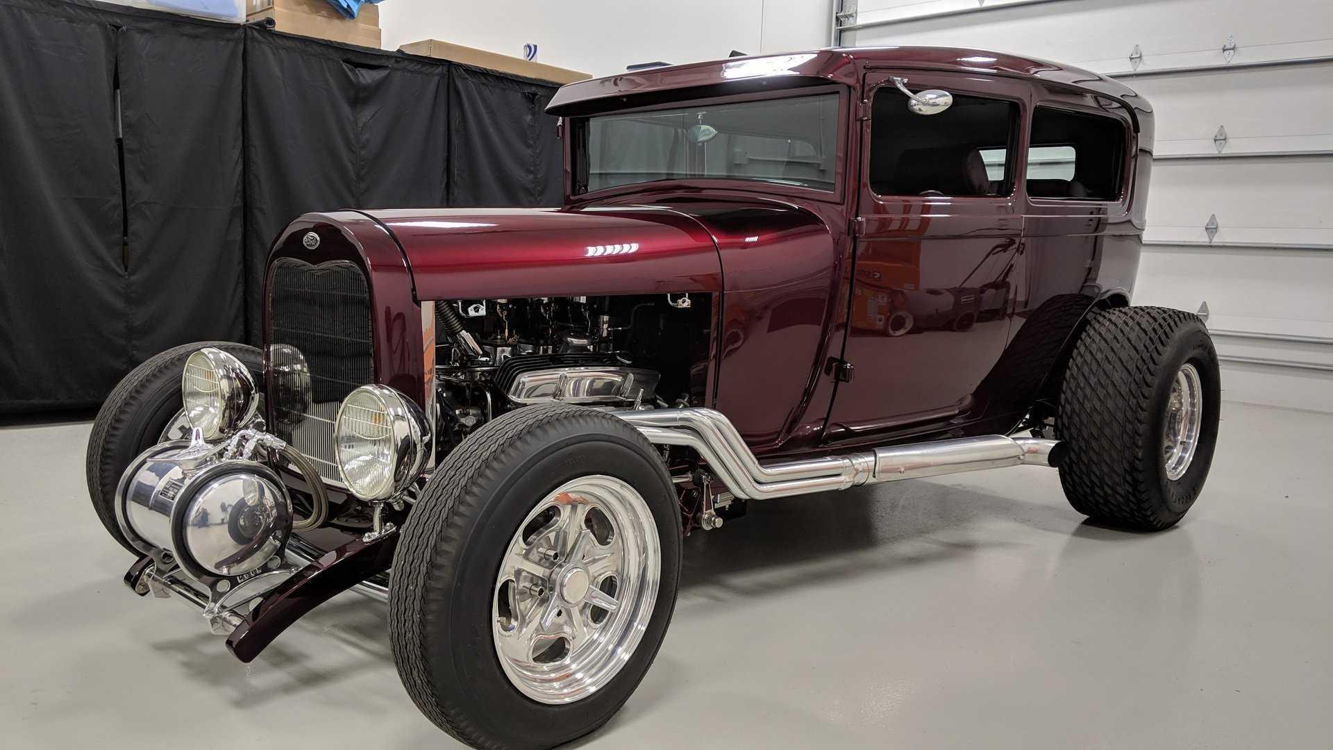 """[""""1929 Model A Tudor Sedan Street Rod Has Class And Sass""""]"""