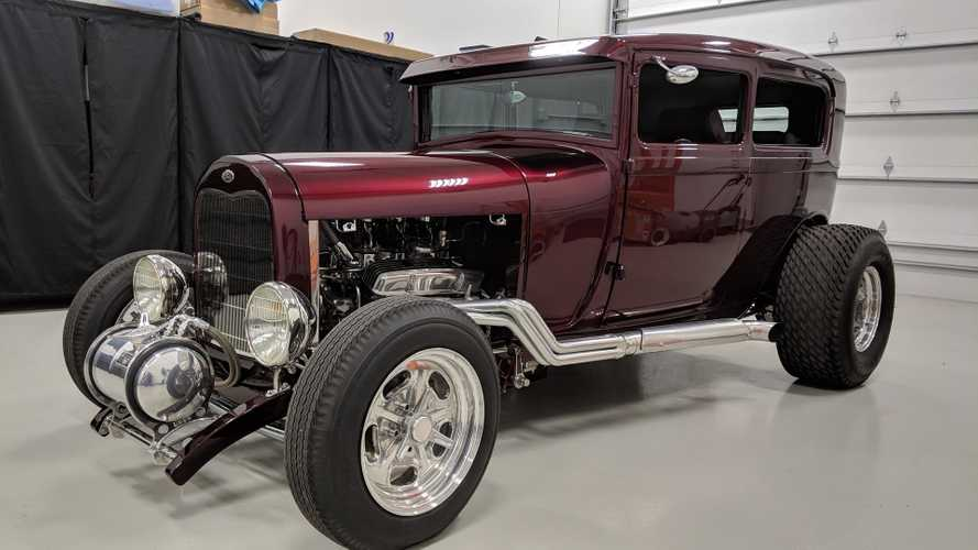 1929 model a tudor sedan street rod has class and sass