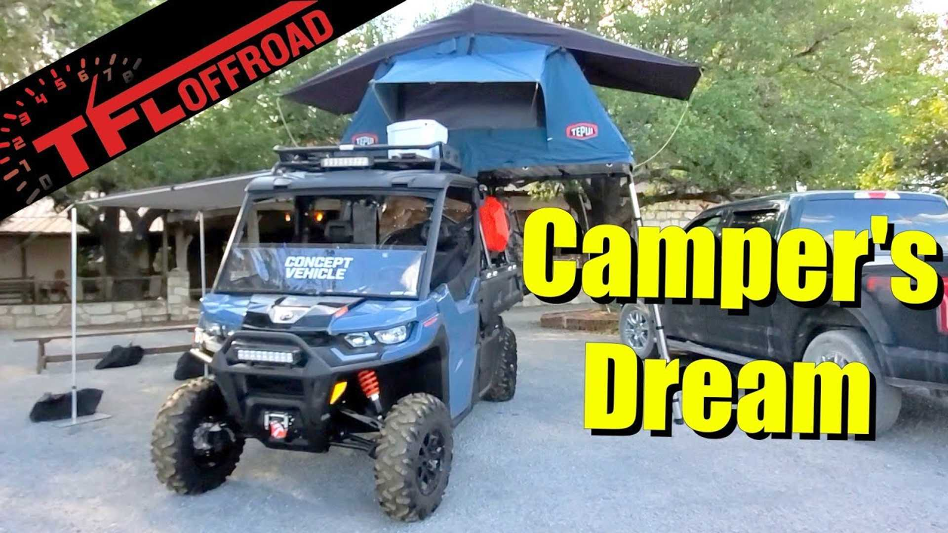 Can-Am Defender Pro Concept Might Be The Smallest Camper Out There