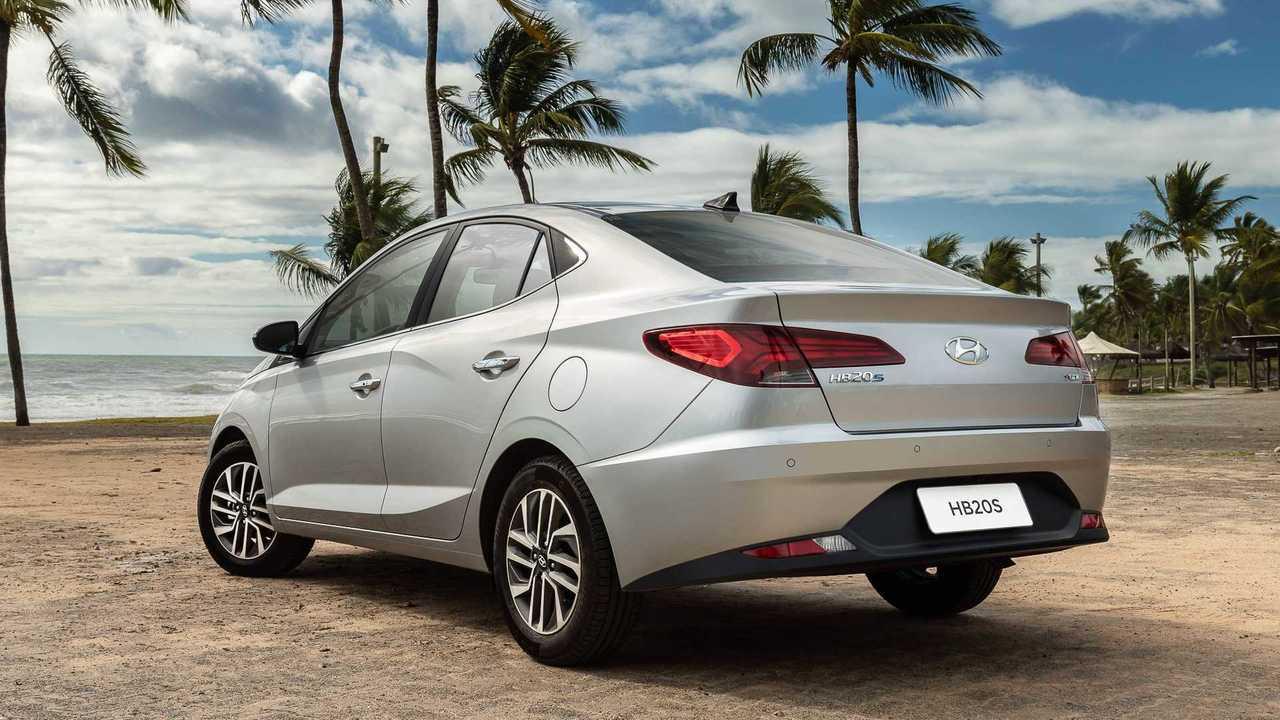 Traseira do Hyundai HB20S 2020