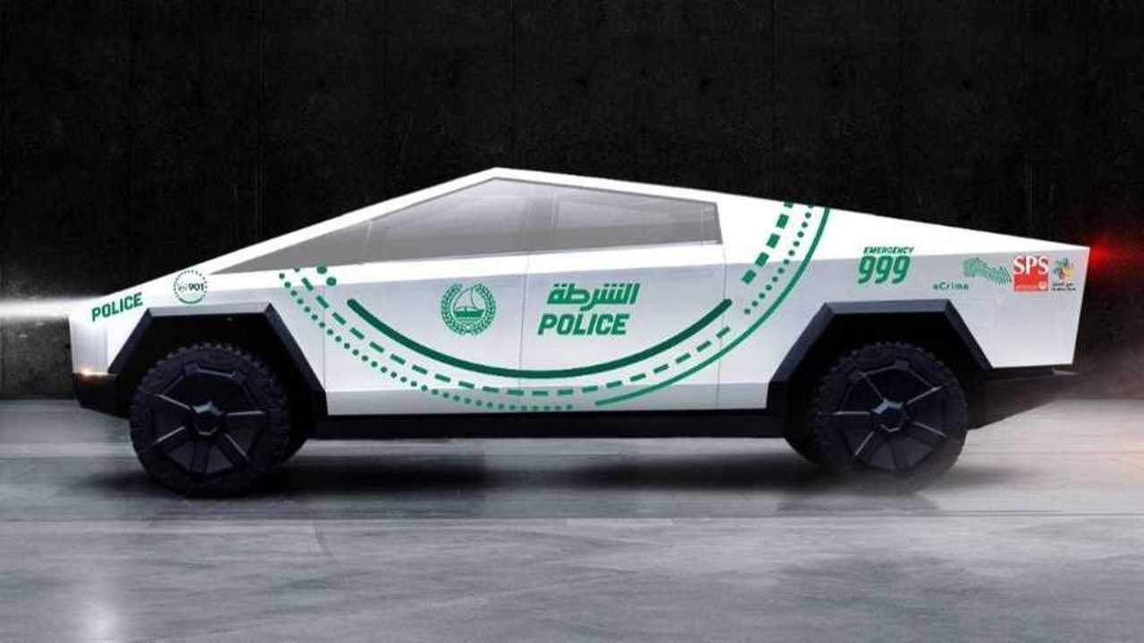 Tesla Cybertruck for Dubai Police