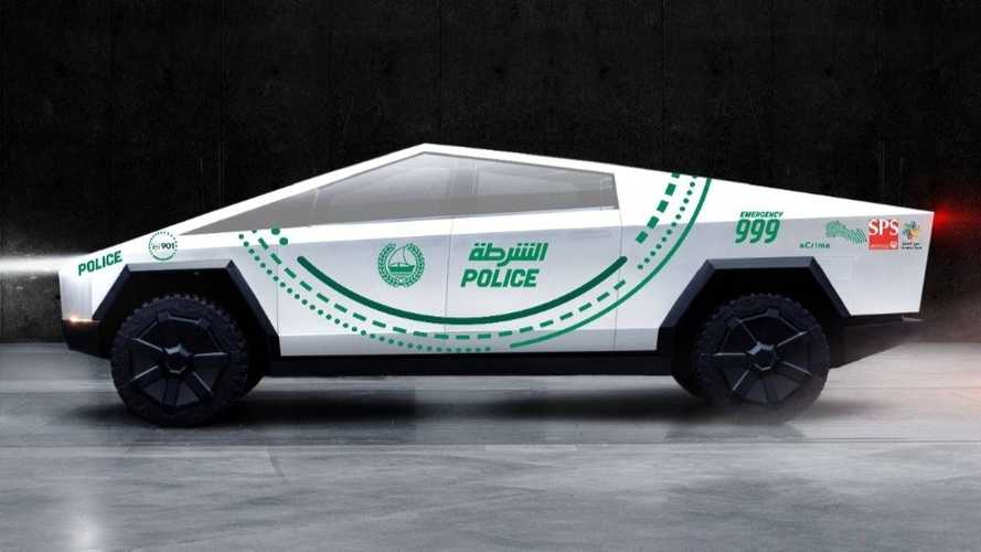 Tesla Cybertruck for Dubai Police