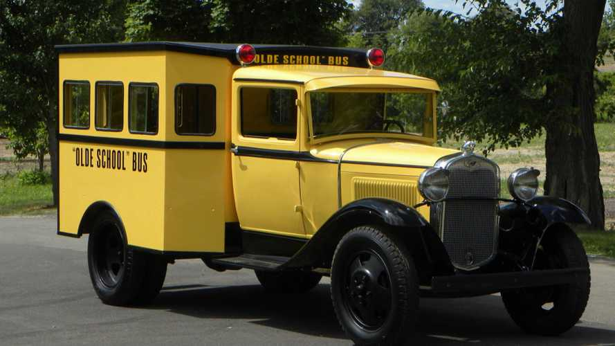 Haul Everybody Using A 1929 Ford Model A School Bus